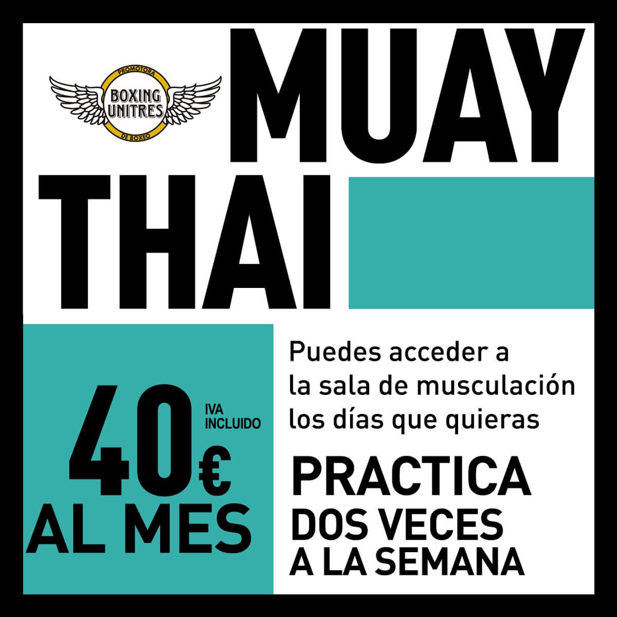 precios de las clases del gimnasio Muay Thai